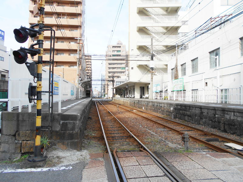 行くぞ!松山2016冬その17・市駅から松山駅へ(大手町駅の平面交差)-8726