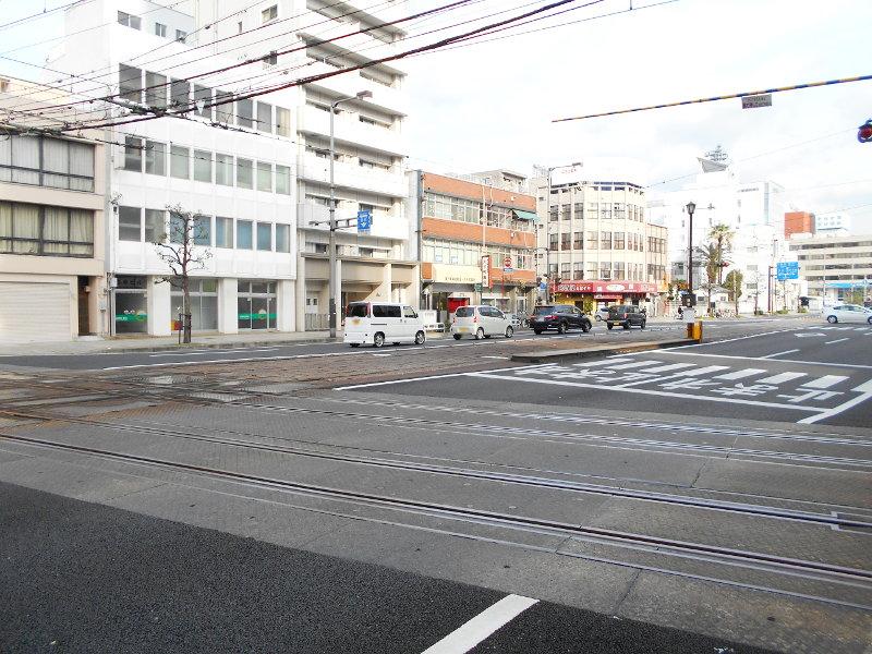 行くぞ!松山2016冬その17・市駅から松山駅へ(大手町駅の平面交差)-8733