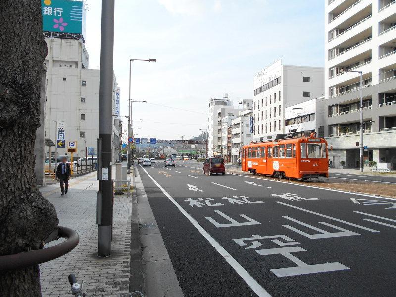 行くぞ!松山2016冬その17・市駅から松山駅へ(大手町駅の平面交差)-8741