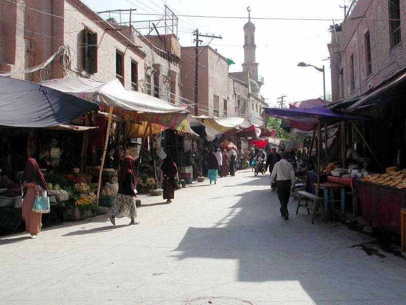 シルクロード一人旅「我的長征2006」その8・カシュガル・老城を歩く-0816