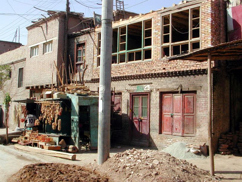 シルクロード一人旅「我的長征2006」その8・カシュガル・老城を歩く-0817
