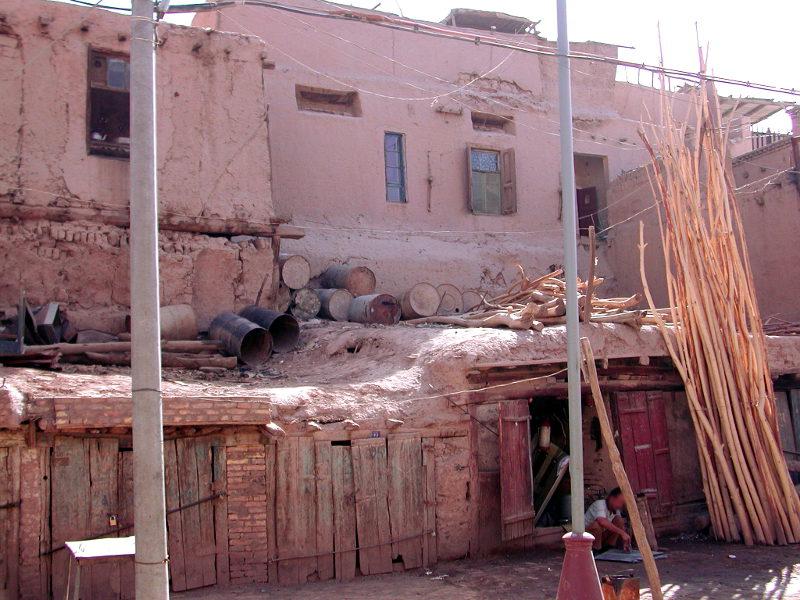 シルクロード一人旅「我的長征2006」その8・カシュガル・老城を歩く-0820