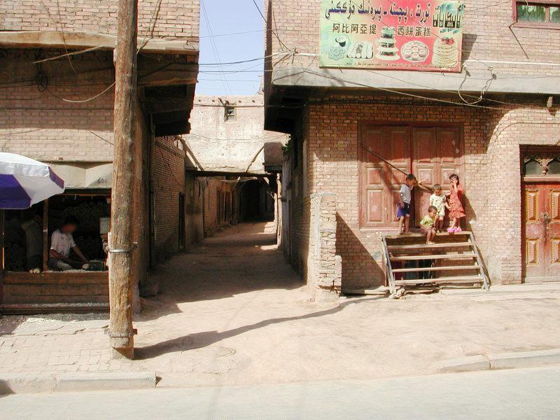 シルクロード一人旅「我的長征2006」その8・カシュガル・老城を歩く-0821