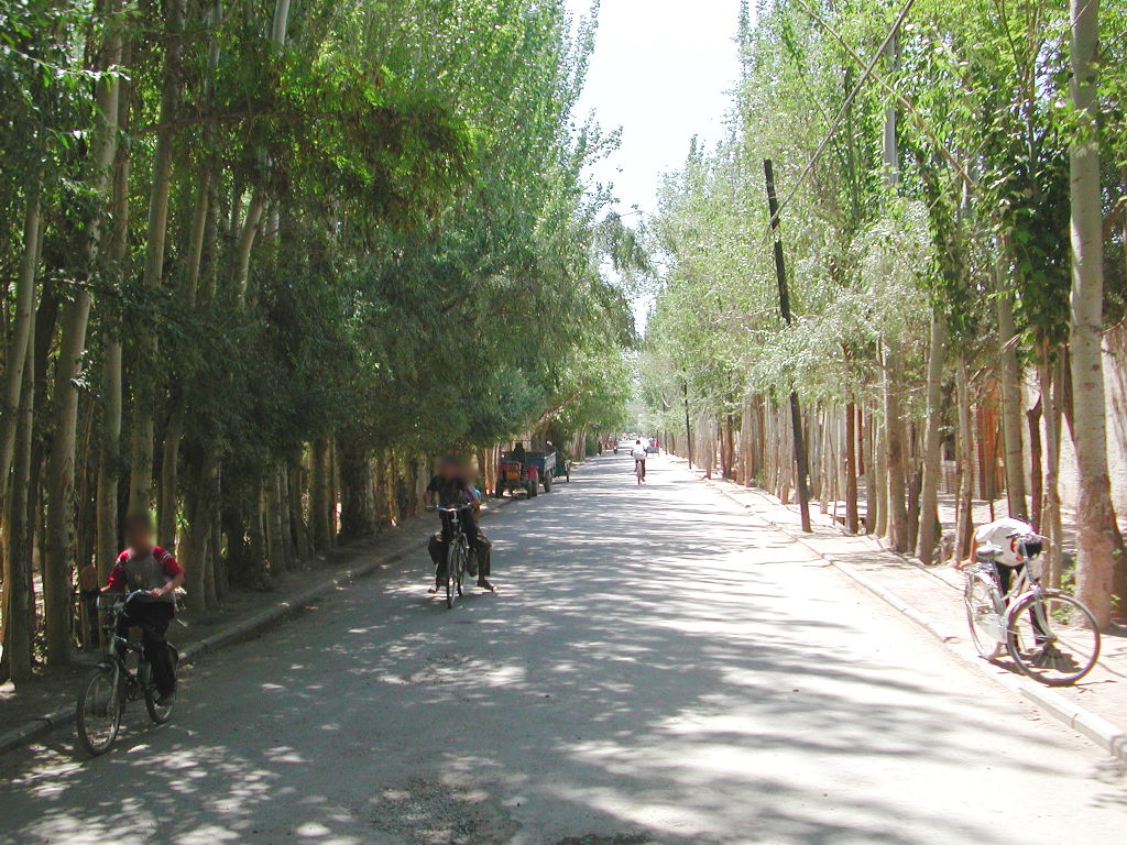 シルクロード一人旅「我的長征2006」その9・カシュガル・香妃墓と並木道-0925