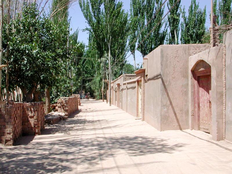 シルクロード一人旅「我的長征2006」その9・カシュガル・香妃墓と並木道-0933