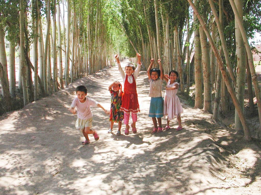 シルクロード一人旅「我的長征2006」その9・カシュガル・香妃墓と並木道-0942