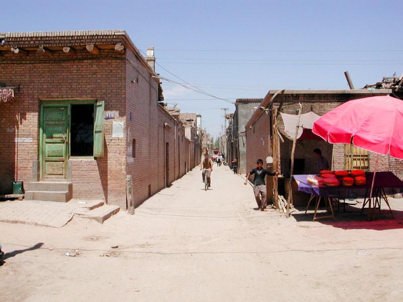 シルクロード一人旅「我的長征2006」その10・カシュガル・老城探検-1002