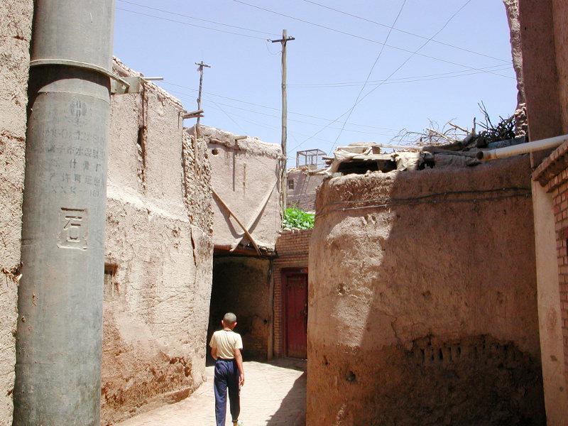シルクロード一人旅「我的長征2006」その10・カシュガル・老城探検-1021