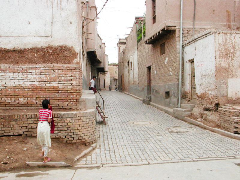 シルクロード一人旅「我的長征2006」その18・カシュガル・一人で老城探検-1809