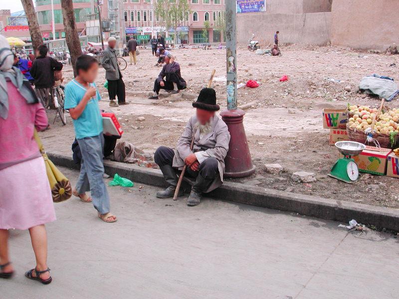 シルクロード一人旅「我的長征2006」その18・カシュガル・一人で老城探検-1832