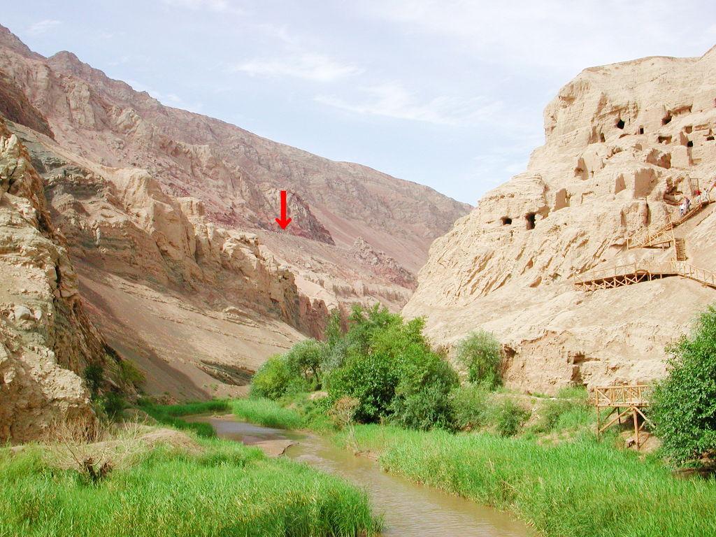 シルクロード一人旅「我的長征2006」その27・トルファン・吐峪溝-2706
