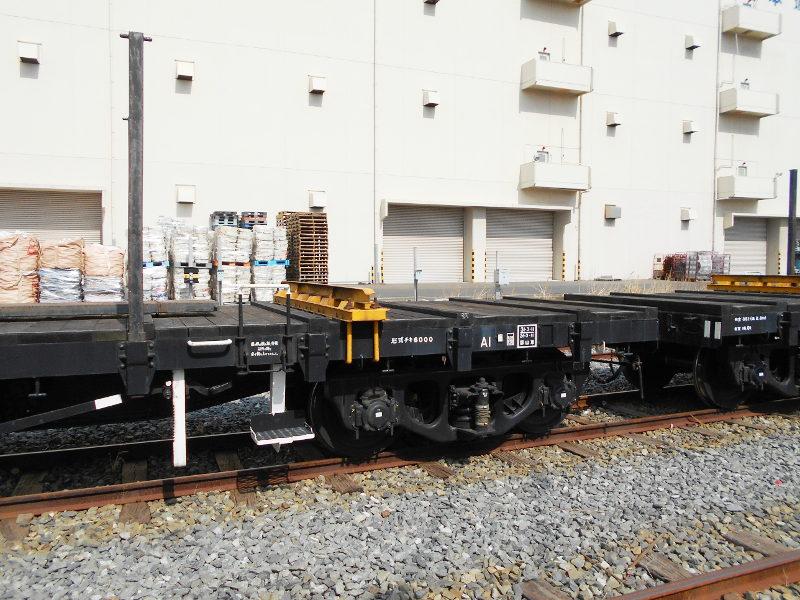 仙台埠頭駅とレール運搬列車2017春-7217