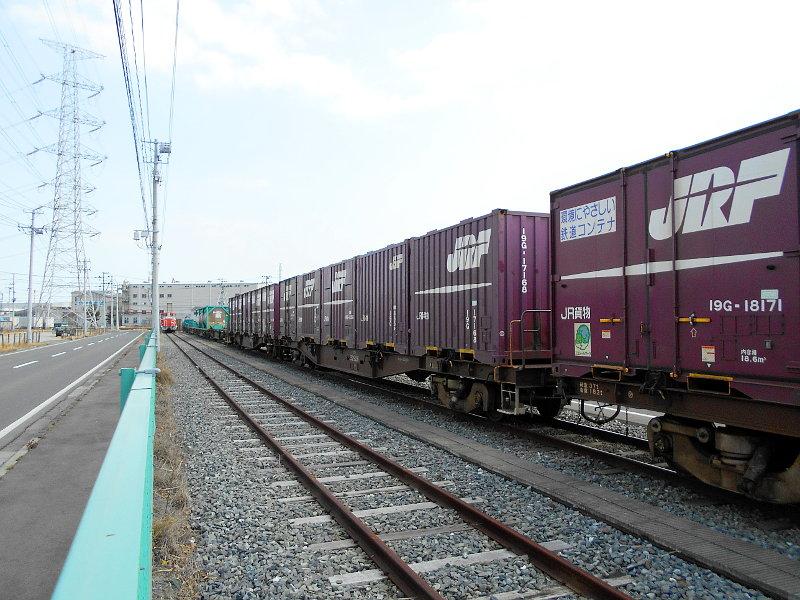 仙台港駅とコンテナ列車2017春その2-7422