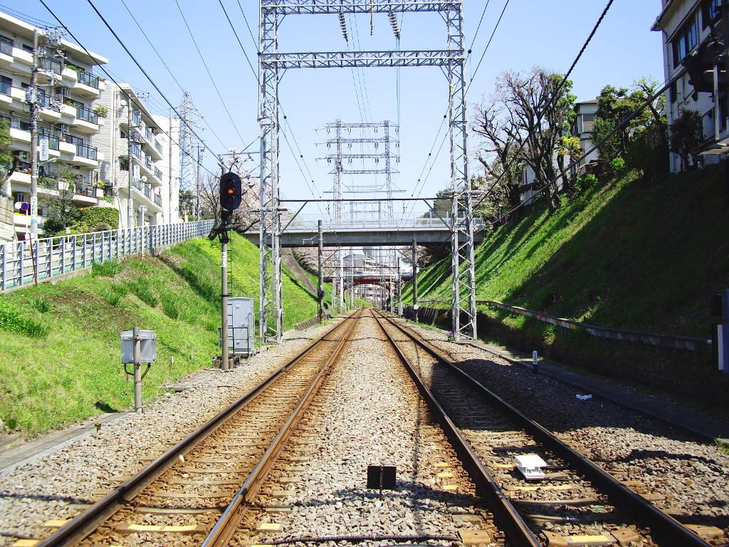 東急池上線・桜の石川台2009春-1110