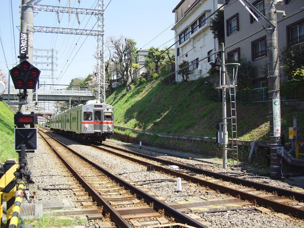 東急池上線・桜の石川台2009春-1112
