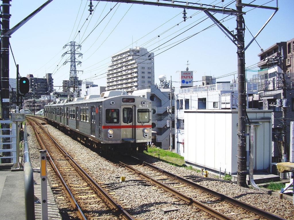東急池上線・桜の石川台2009春-1123