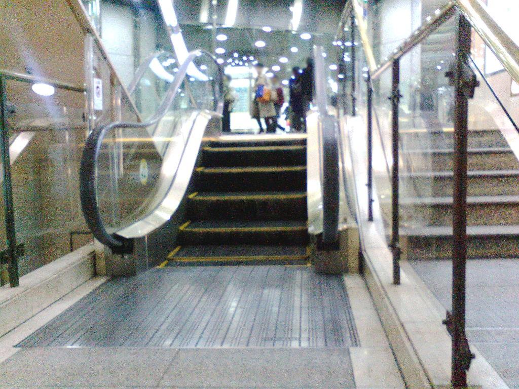 変わり者のエスカレーター2008-1003