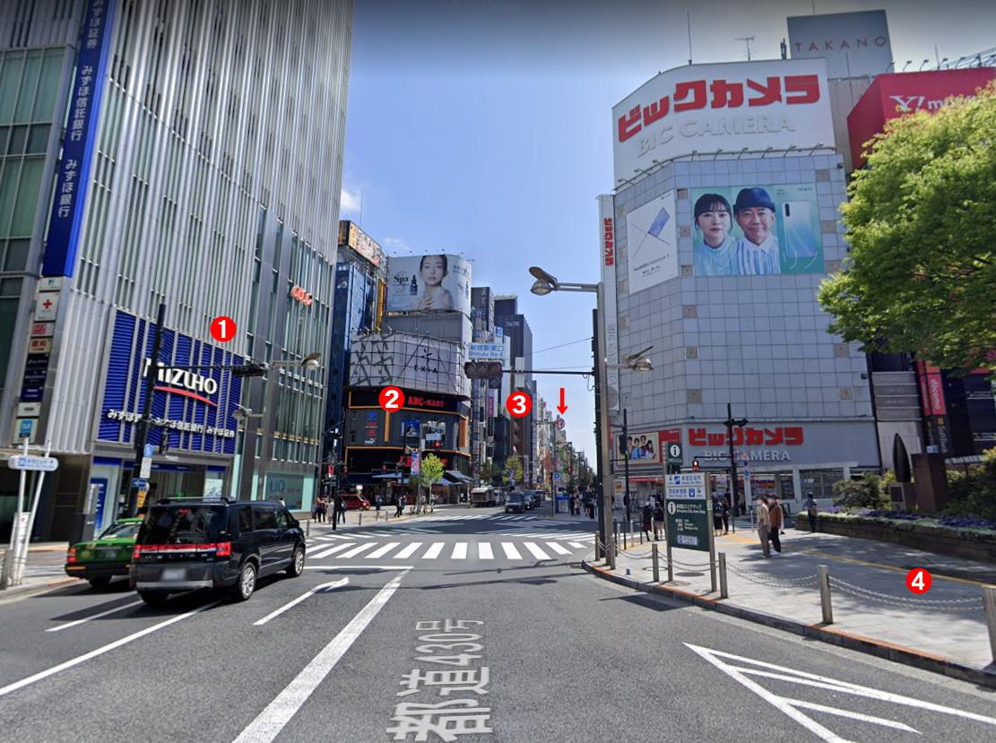 東京・新宿駅東口から三丁目界隈の日差し1960年代-1002