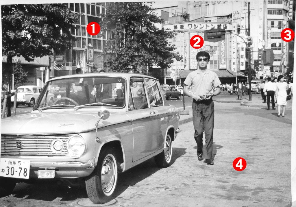 東京・新宿駅東口から三丁目界隈の日差し1960年代-1003